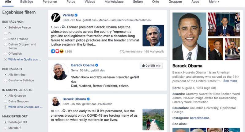 Facebook Suche jetzt mit Knowledge Graph