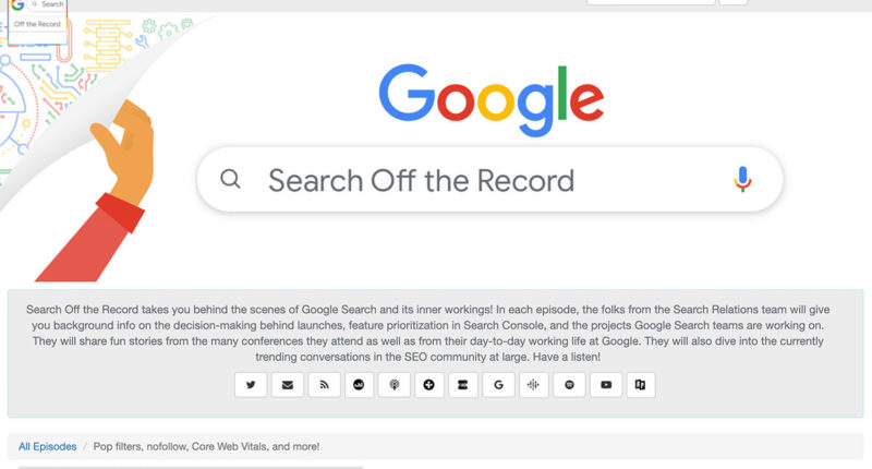 Google Search off the Record Podcast Ausgabe 1