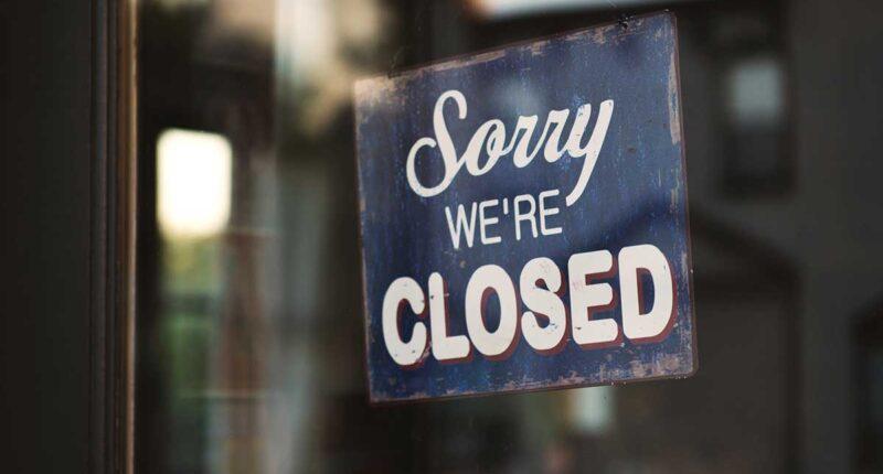 Laden geschlossen Schild