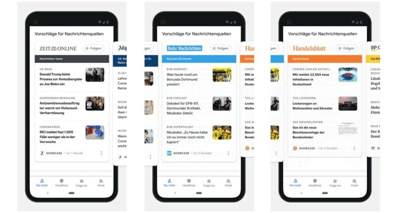 Google News Showcase Update Dezember 2020