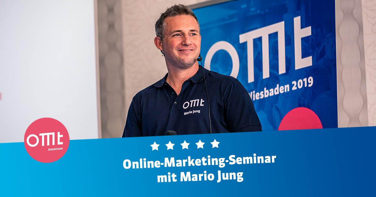 Online Marketing-Seminar 2021 mit Mario Jung