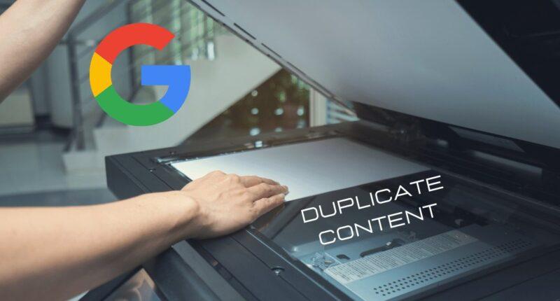 duplicate content google
